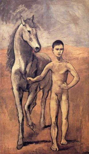 《Jeune garçon au cheval》,1906