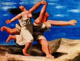 《Deux femmes courant sur la plage》,1922