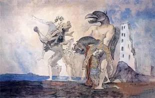 《La Dépouille du Minotaure en costume d'Arlequin》,1936