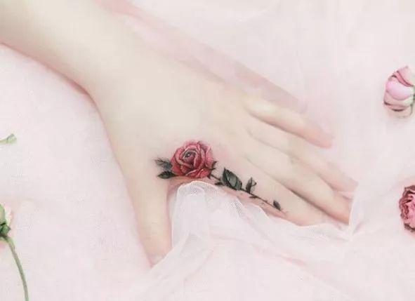 纹身玫瑰隐瞒