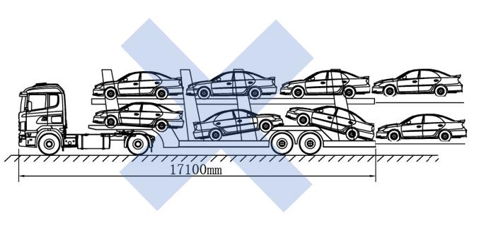 """车辆运送车""""6+2""""违法装载"""