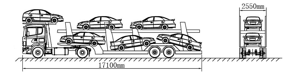 平头铰接车辆运送车