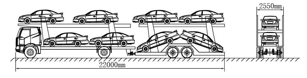 中置轴车辆运送车